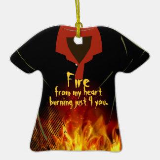 Burning Heart LoveT-Shirt Ornament