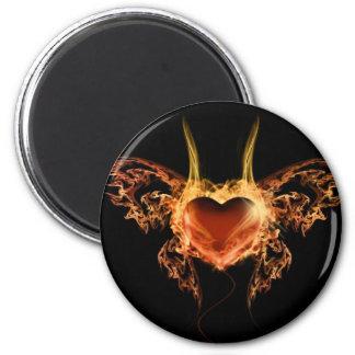 Burning Heart Magnet