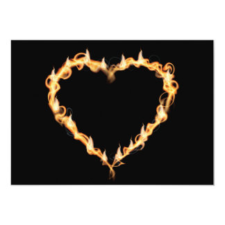 Burning Heart of Fire Black Dark Love Graphics Card