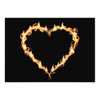 Burning Heart of Fire Black Dark Love Graphics Card