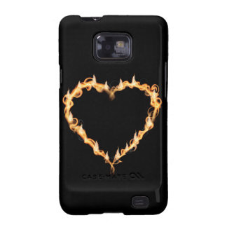 Burning Heart of Fire Black Dark Love Graphics Samsung Galaxy Case