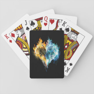 Burning Heart Playing Cards