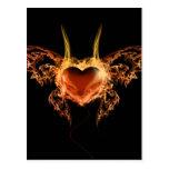Burning Heart Postcard