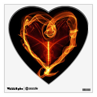 Burning Heart Wall Sticker