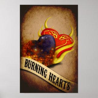 Burning Hearts Poster