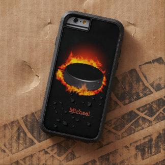 Burning Hockey Puck iPhone 6 Case