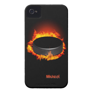 Burning Hockey Puck iPhone 4 Cover
