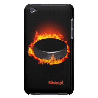 Burning Hockey Puck iPod Touch Case