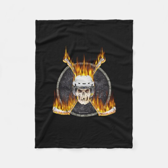 Burning Hockey Sticks Fleece Blanket
