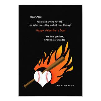 Burning Hot Baseball Valentine Card