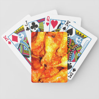 Burning Hot Saucy Wings Bicycle Playing Cards