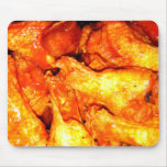 Burning Hot Saucy Wings Mouse Pad