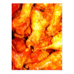 Burning Hot Saucy Wings Post Card