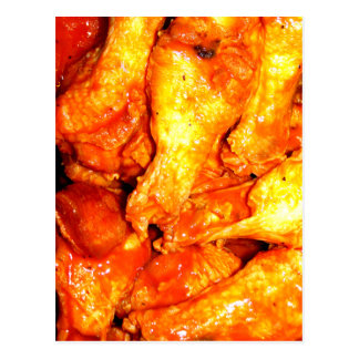 Burning Hot Saucy Wings Postcard