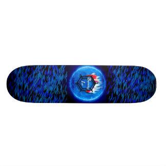 Burning Ice Skateboard Deck