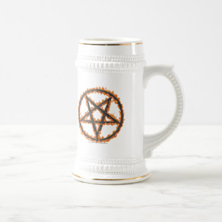 Burning Inverted Pentagram Beer Stein