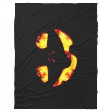 Halloween Themed Burning Jack Blanket