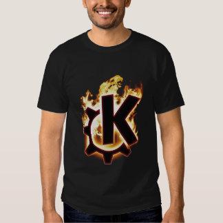 Burning KDE Linux Icon T Shirt