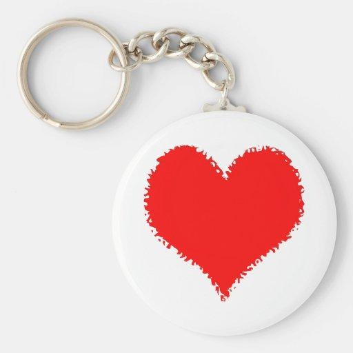 Burning Love Basic Round Button Keychain