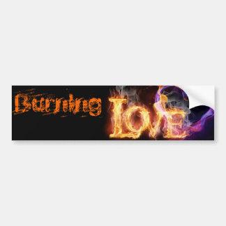 Burning Love Bumper Sticker