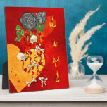 Burning Love Fire Display Plaques
