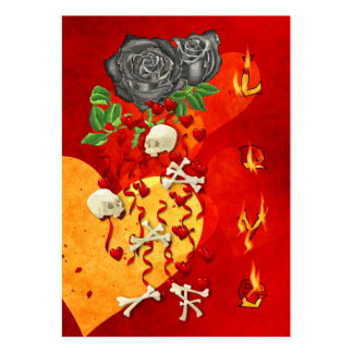 Burning Love Fire Large Business Card