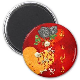 Burning Love Fire Magnet