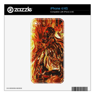 Burning Man Skin Decals For The iPhone 4S