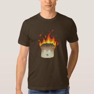 Burning Marshmallow Pixel Art Tee Shirt