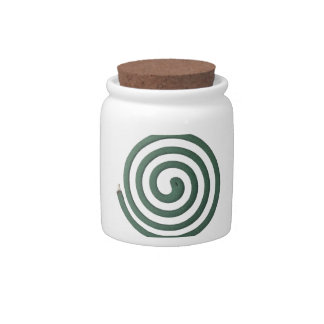Burning mosquito coil candy dish