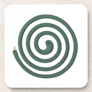 Burning mosquito coil drink coasters