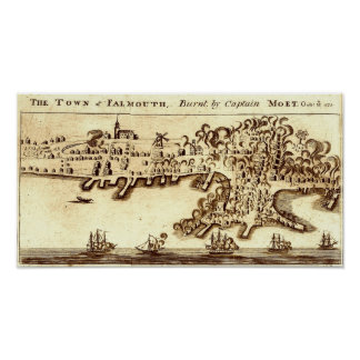 Burning of Falmouth Neck 1775 Poster