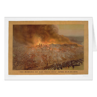 Burning of San Francisco April 18-20, 1906 (1596A) Card