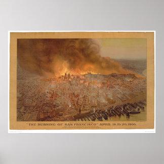 Burning of San Francisco April 18-20, 1906 (1596A) Posters