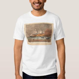 """Burning of the clipper ship """"Golden Light"""" (0143A) T-Shirt"""