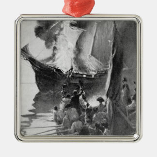 Burning of the Gaspee Metal Ornament