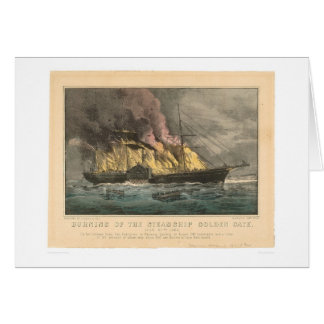 Burning of the Steamship Golden Gate (0144A) Cards
