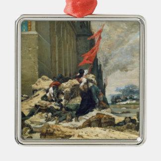 Burning of the Tuileries, 1871 Metal Ornament