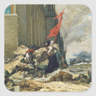 Burning of the Tuileries, 1871 Square Sticker