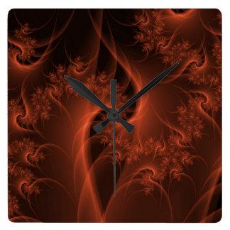 Burning Orange Twist Wall Clock