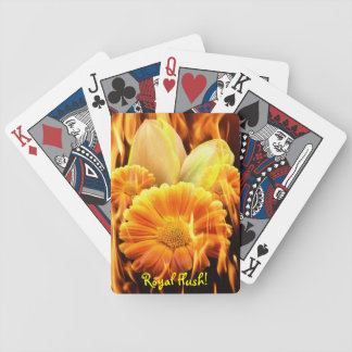Burning Pack - Royal Flush Poker Deck