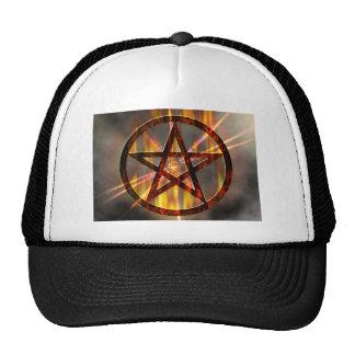 Burning Pentagram Trucker Hat