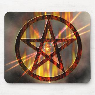 Burning Pentagram Mouse Pad