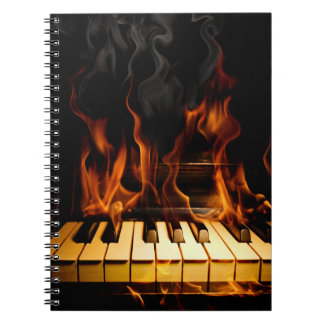 Burning Piano Notebook