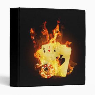 Burning Poker Cards Binder