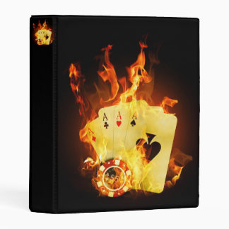 Burning Poker Cards Mini Binder