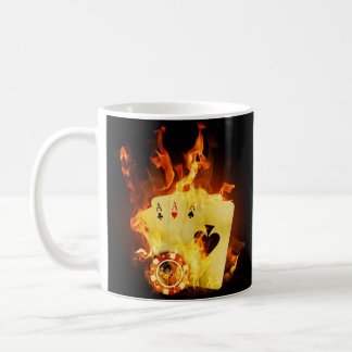 Burning Poker Cards Mug