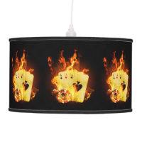 Burning Poker Cards Pendant Lamp