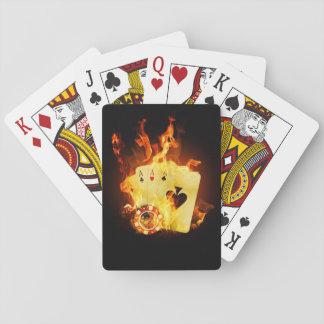 Burning Poker Cards Playing Cards