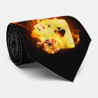 Burning Poker Cards Tie